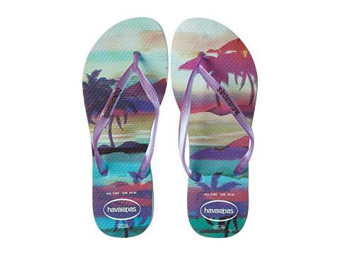 Havaianas - Slim Paisage Flip Flops (Ice Blue) Women's Sandals