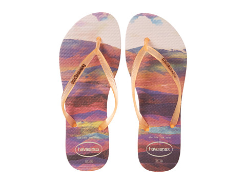 Havaianas - Slim Paisage Flip Flops (Light Pink) Women's Sandals