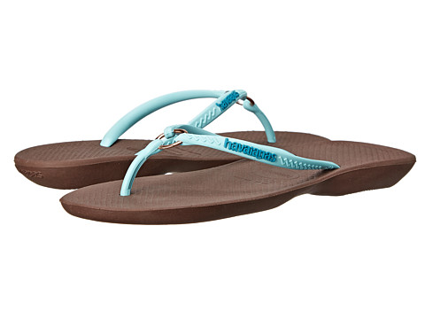 Havaianas - Ring Flip Flops (Dark Brown) Women's Sandals