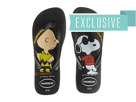 Havaianas - Snoopy Flip Flops (Black) Women