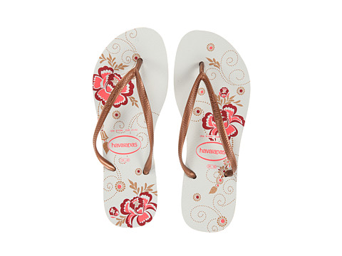 Havaianas - Slim Organic Flip Flops (White) Women
