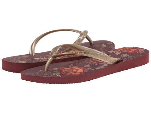 Havaianas - Slim Organic Flip Flops (Grape Wine) Women
