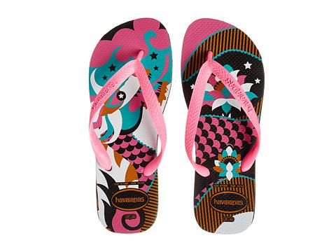 Havaianas - Fiesta Flip Flops (Black/Pink) Women's Sandals