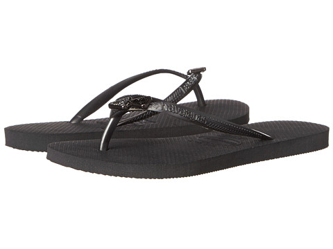 Havaianas - Slim Crystal Rock SW Flip Flops (Grey) Women's Sandals