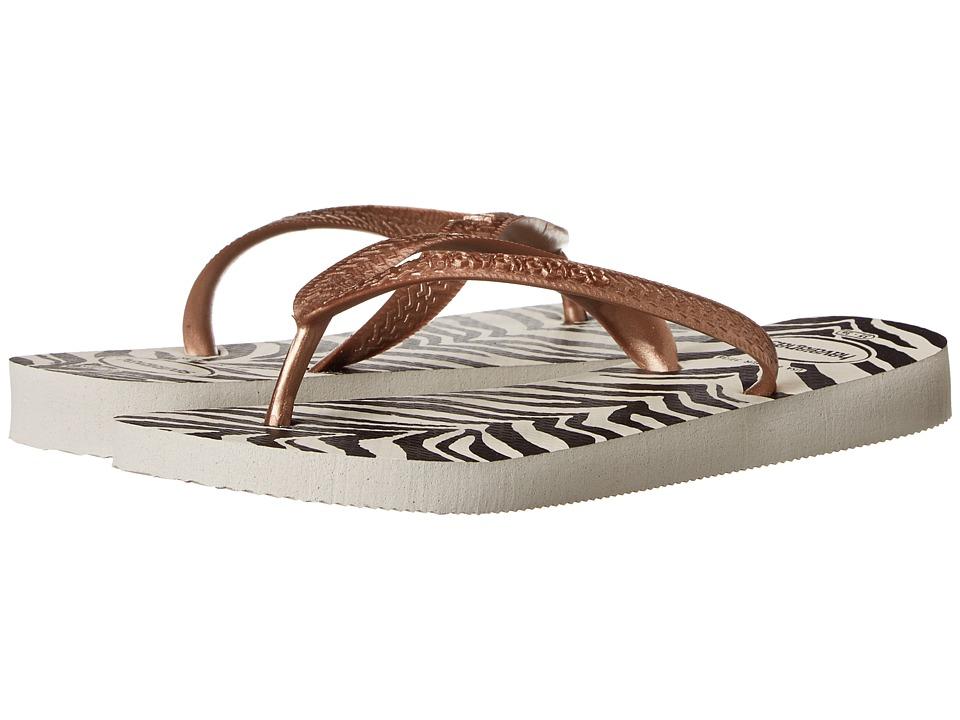 Havaianas - Top Animals Flip Flops (White) Women's Sandals