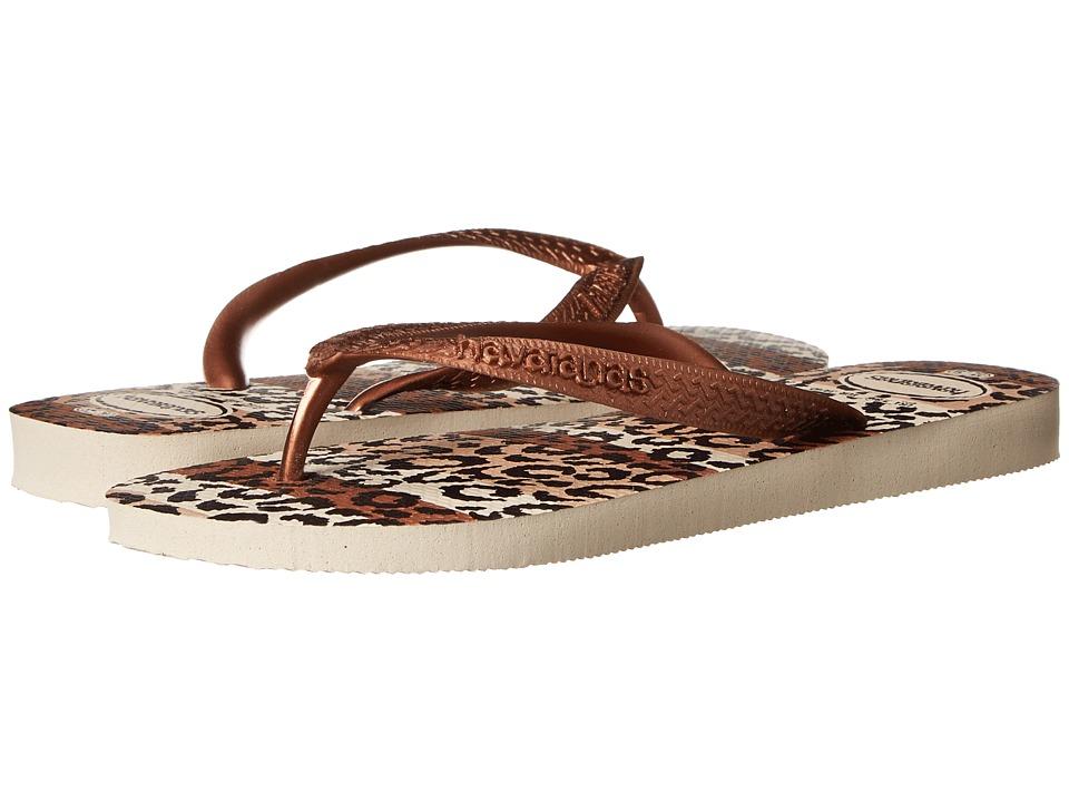 Havaianas - Top Animals Flip Flops (Beige) Women's Sandals