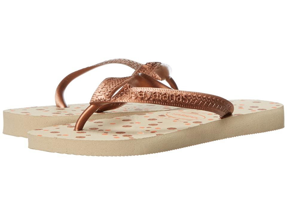 Havaianas - Top Fresh Flip Flops (Sand Grey) Women's Sandals