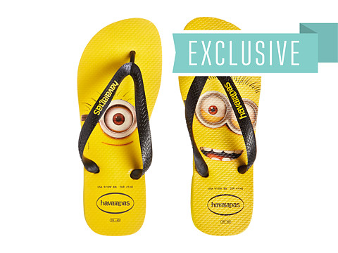 Havaianas - Minions Flip Flops (Citrus Yellow) Women's Sandals