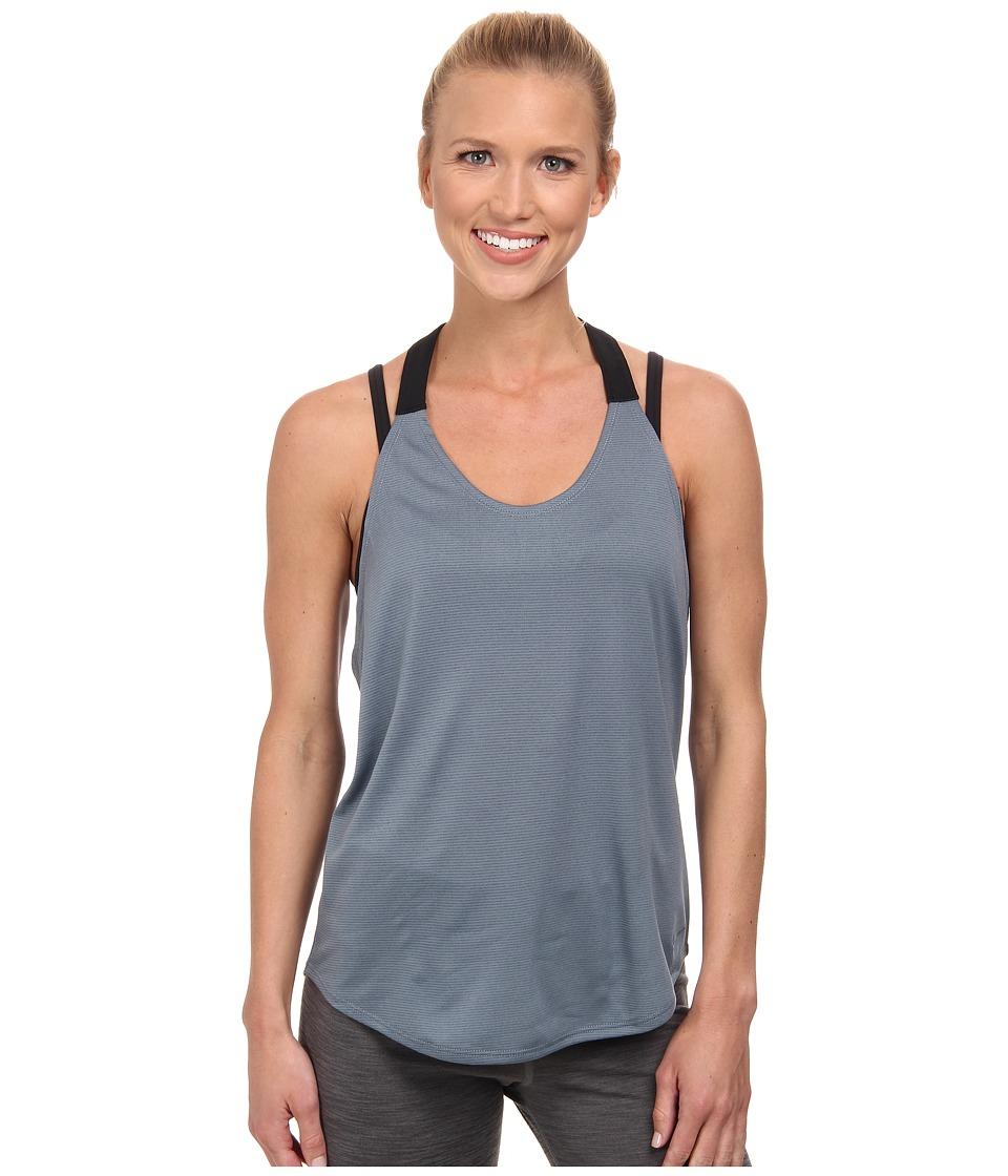 Nike - Dri-FIT Elastika Tank Top (Blue Graphite/Black/Blue Graphite) Women's Sleeveless