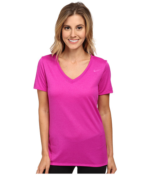 Nike - V-Neck Legend Short-Sleeve Tee 2.0 (Fuchsia Flash/Fuchsia Flash) Women's T Shirt