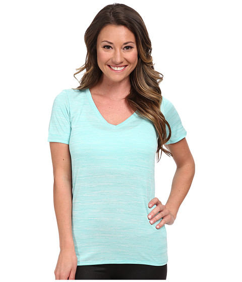 Nike - V-Neck Legend Short Sleeve Veneer Tee (Light Retro/Light Retro) Women