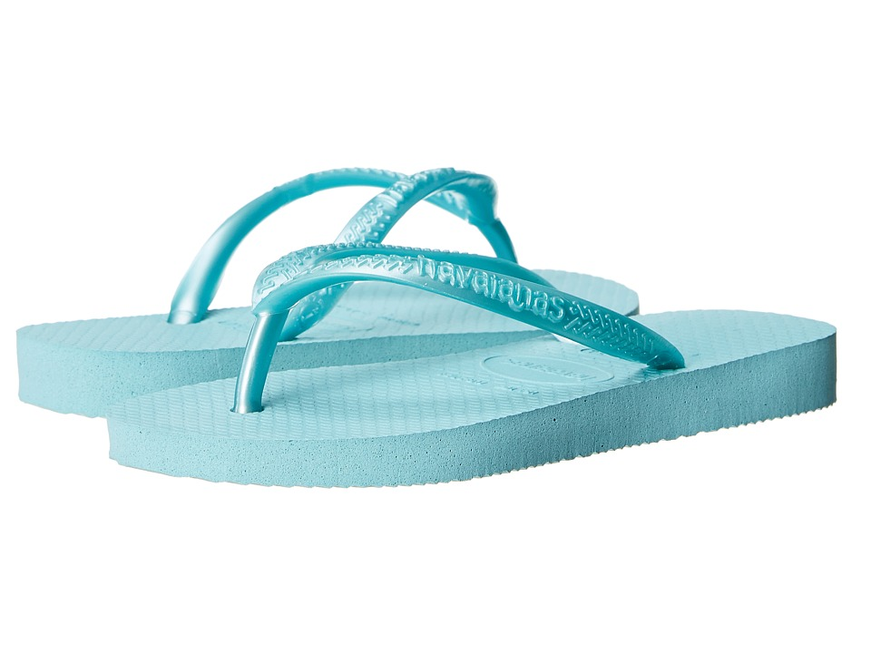 Havaianas Kids - Slim Flip Flops (Toddler/Little Kid/Big Kid) (Ice Blue) Girls Shoes