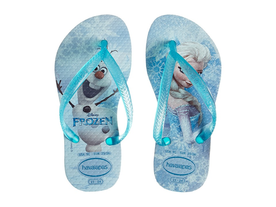 Havaianas Kids - Slim Frozen (Toddler/Little Kid/Big Kid) (Ice Blue) Girls Shoes
