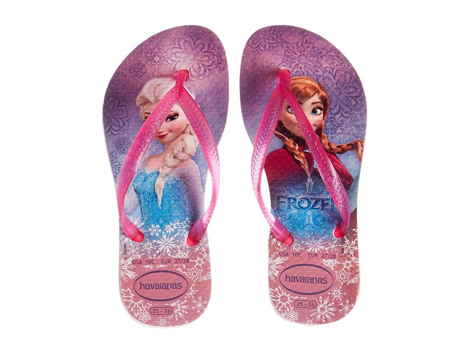Havaianas Kids - Slim Frozen (Toddler/Little Kid/Big Kid) (Crystal Rose) Girls Shoes