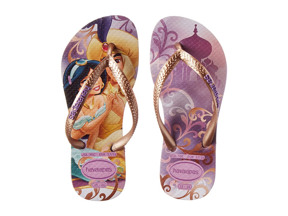 Havaianas Kids - Slim Princess Disney Flip Flops (Toddler/Little Kid/Big Kid) (Soft Lilac) Girl's Shoes