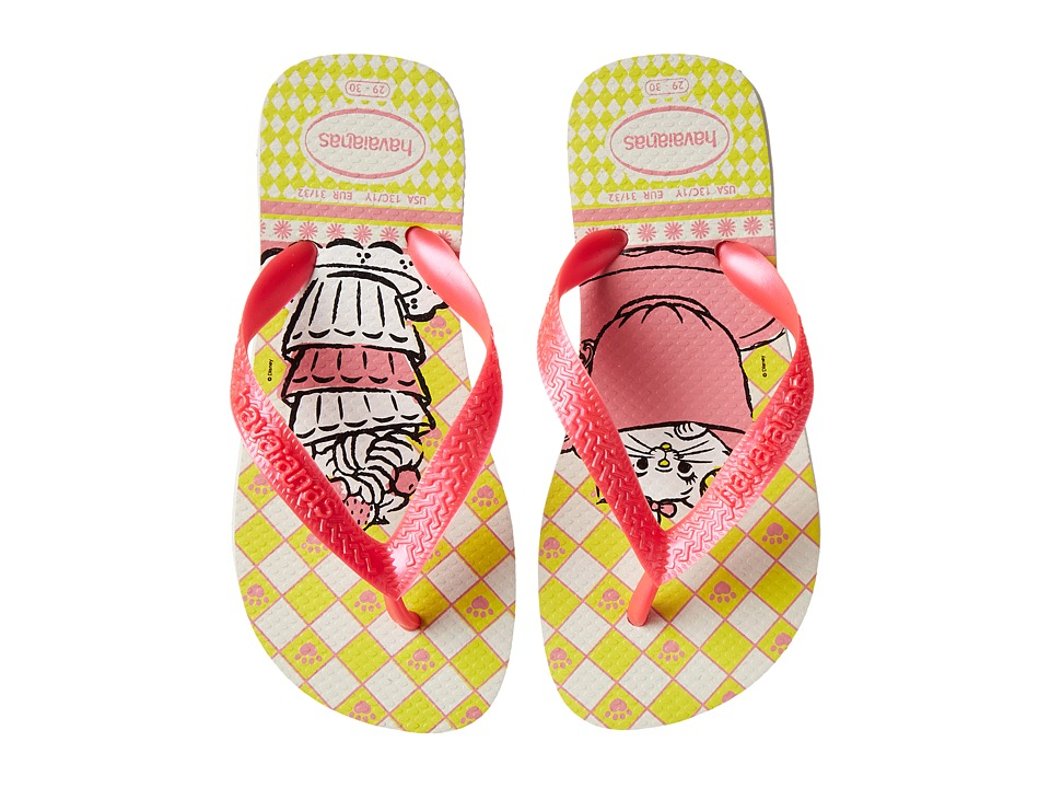 Havaianas Kids - Top Marie (Toddler/Little Kid/Big Kid) (White) Girls Shoes