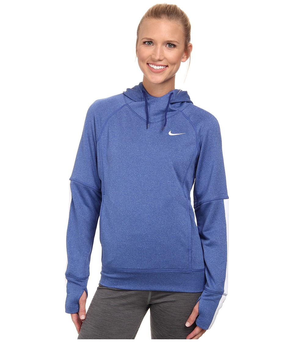 Nike - Dri-FIT Comfort Hoodie (Deep Royal Blue/Blue Lagoon/White/White) Women