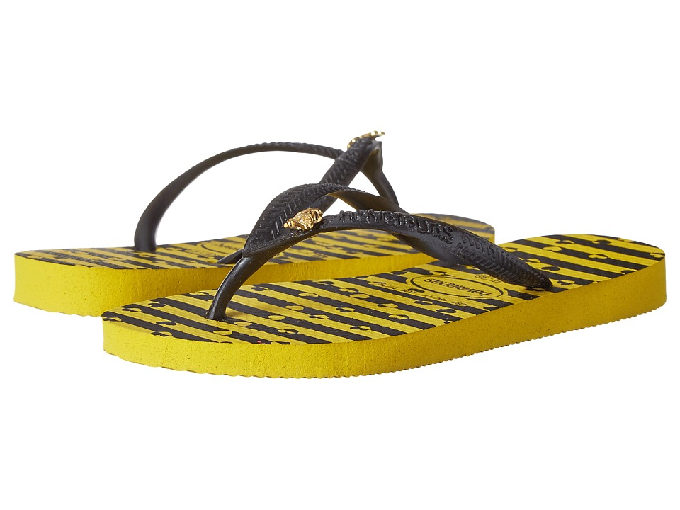Havaianas Kids - Slim Bugs (Toddler/Little Kid/Big Kid) (Citrus Yellow) Girls Shoes