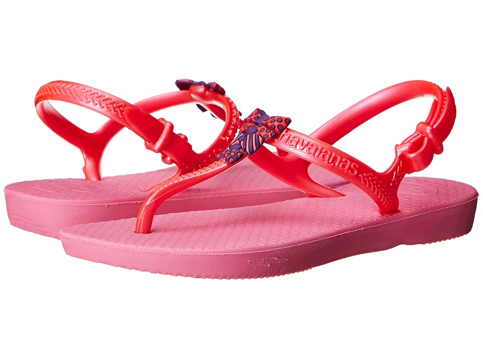 Havaianas Kids - Freedom (Toddler/Little Kid/Big Kid) (Shocking Pink) Girls Shoes