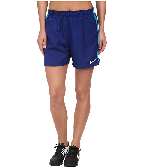 Nike - Dri-FIT Squad Woven Short (Deep Royal Blue/Blue Lagoon/White) Women