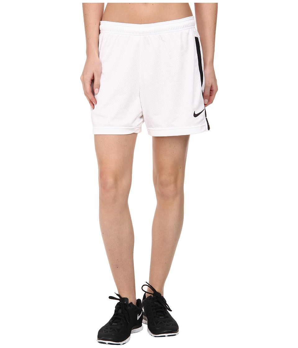 Nike - Dri-FITtm Academy Knit Shorts (White/Black/Black) Women's Shorts