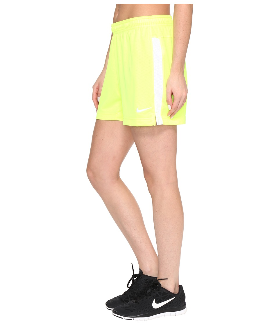 Nike - Dri-FIT Academy Knit Shorts (Volt/White/White) Women's Shorts