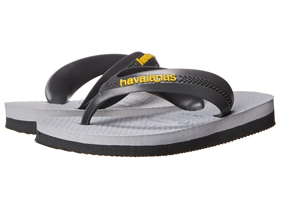 Havaianas Kids - Max (Toddler/Little Kid/Big Kid) (Dark Grey/Light Grey) Boys Shoes