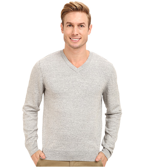 Lucky Brand - V-Neck Sweater (Light Heather Gray) Men