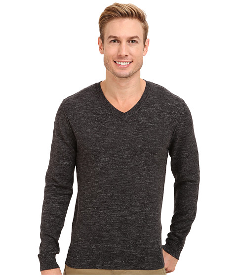 Lucky Brand - V-Neck Sweater (Charcoal Gray) Men's Sweater