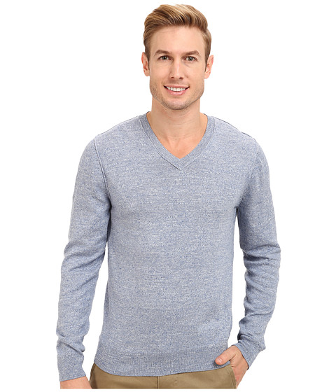 Lucky Brand - V-Neck Sweater (Light Blue) Men's Sweater
