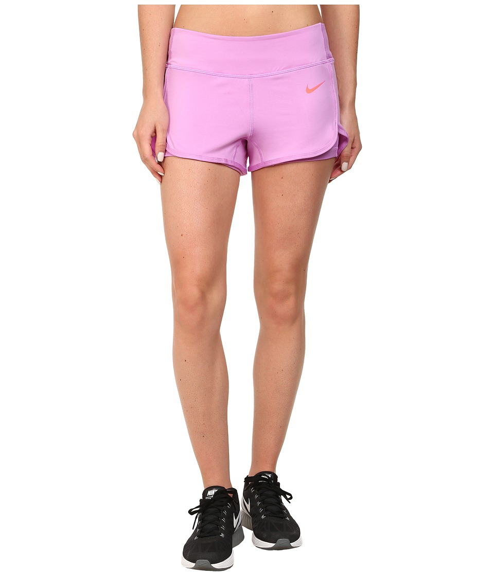 Nike - Ace Court Short (Fuchsia Glow/Fuchsia Glow/Hot Lava) Women's Shorts