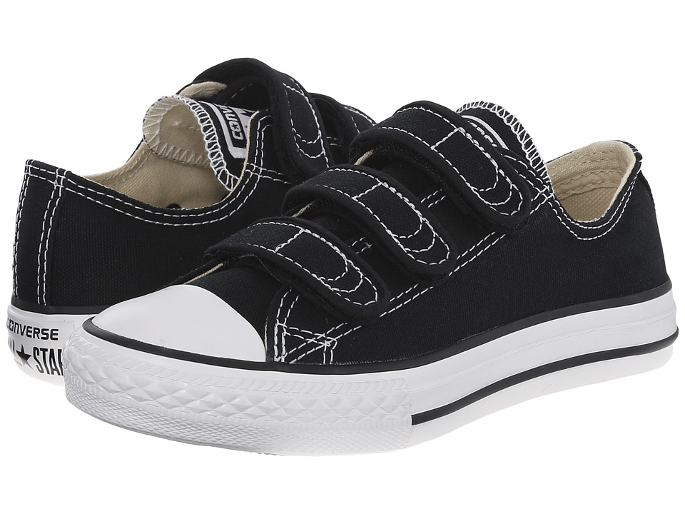 Converse Kids - Chuck Taylor(r) All Star(r) 3 Strap (Little Kid) (Black) Kids Shoes