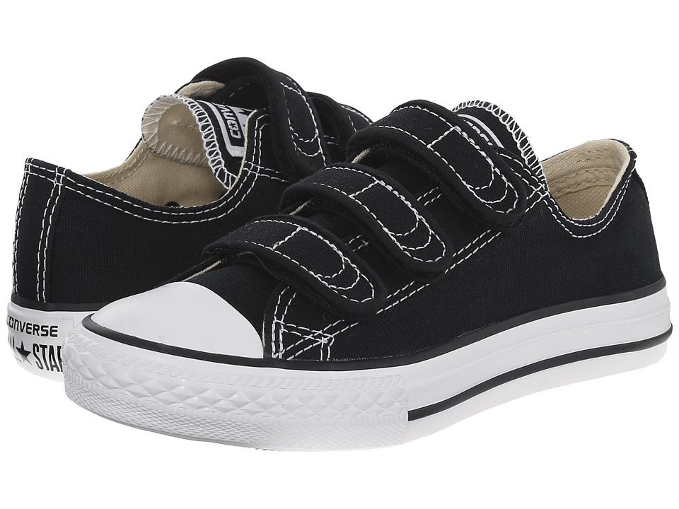 Converse Kids Chuck Taylor(r) All Star(r) 3 Strap (Little Kid) (Black) Kids Shoes