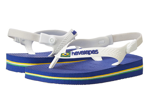 Havaianas Kids - Baby Brasil Logo Flip Flops (Toddler) (Marine Blue) Boy's Shoes