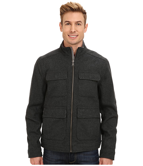 Lucky Brand - Alpha Wool Jacket (Charcoal) Men's Coat