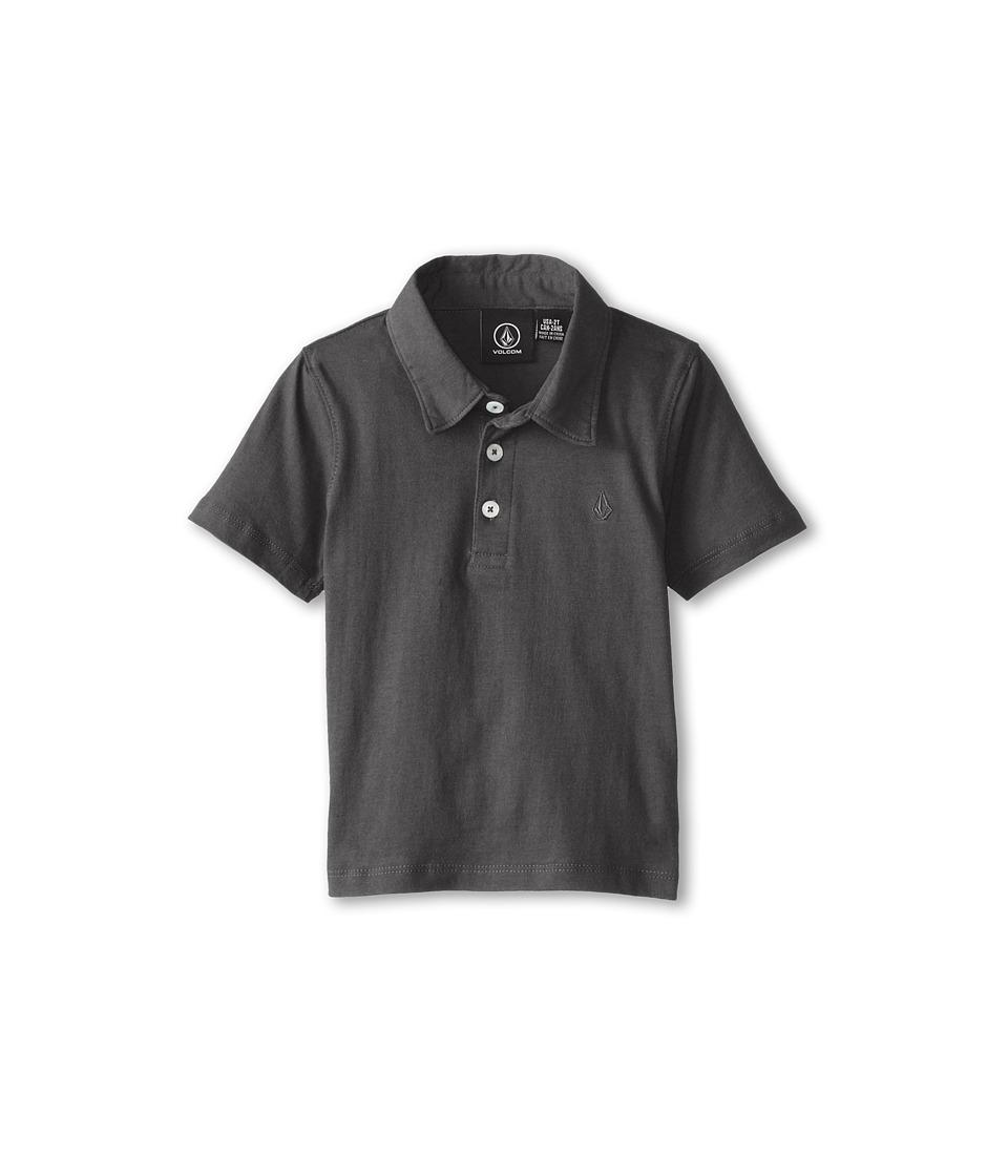 Volcom Kids - Wowzer Polo (Toddler/Little Kids) (Dark Grey) Boy's Short Sleeve Pullover
