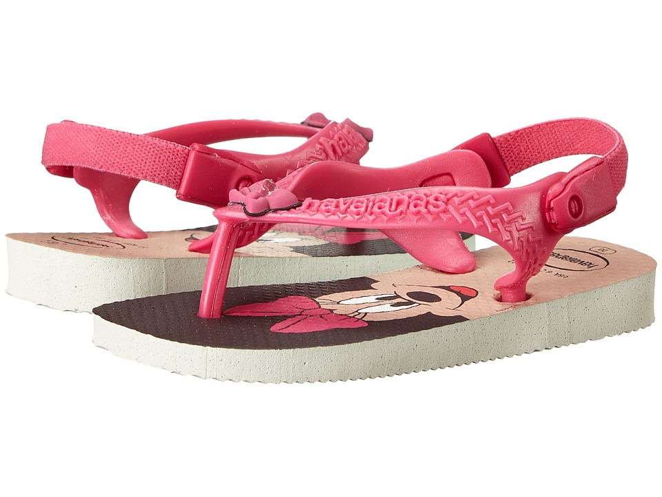 Havaianas Kids - Disney Classics (Toddler) (White/Rose) Girls Shoes