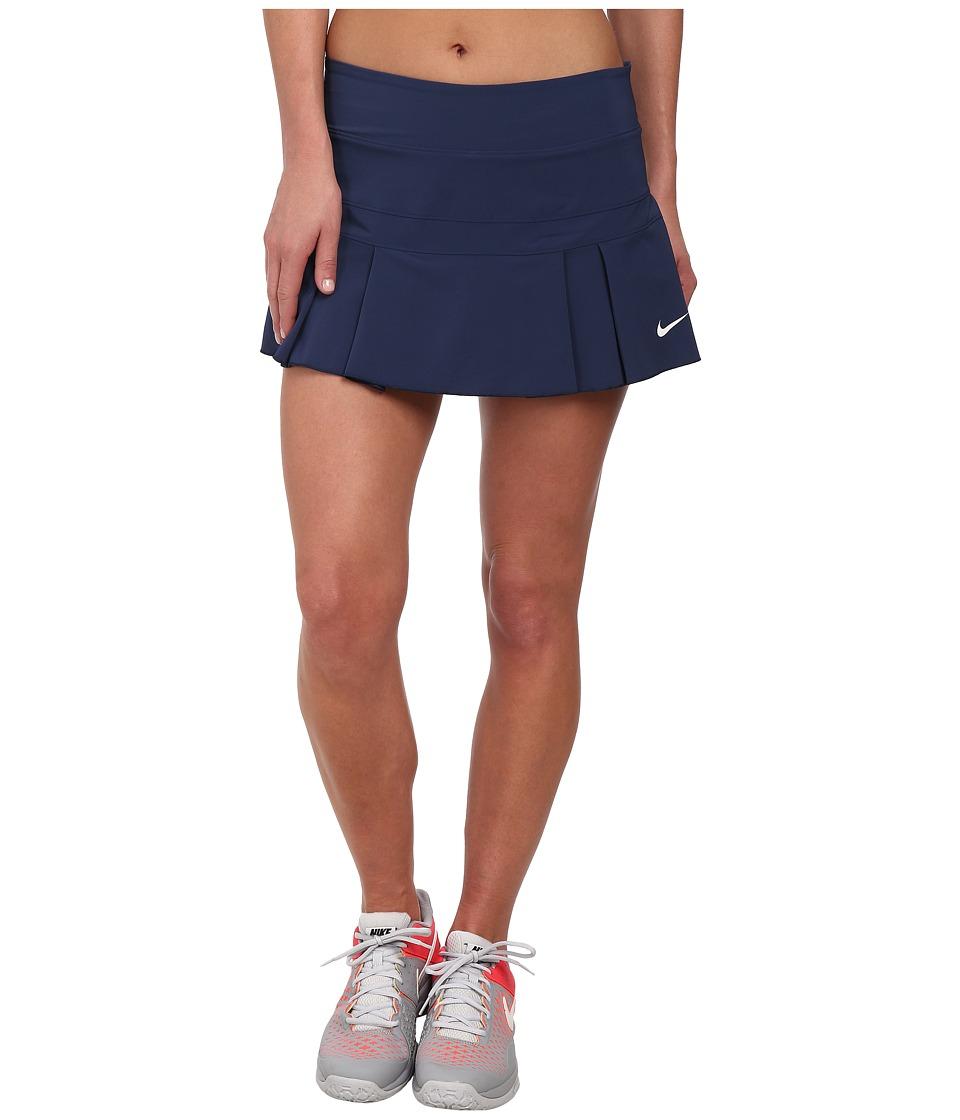 Nike - Woven Pleated Skort (Midnight Navy/White) Women's Skort