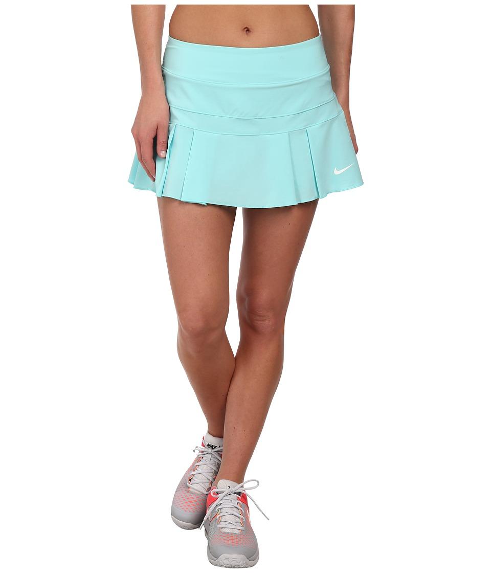 Nike - Woven Pleated Skort (Light Aqua/White) Women