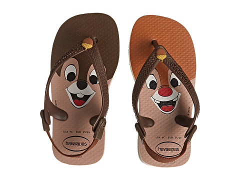 Havaianas Kids - Disney Classics (Toddler) (Beige/Dark Brown) Kids Shoes