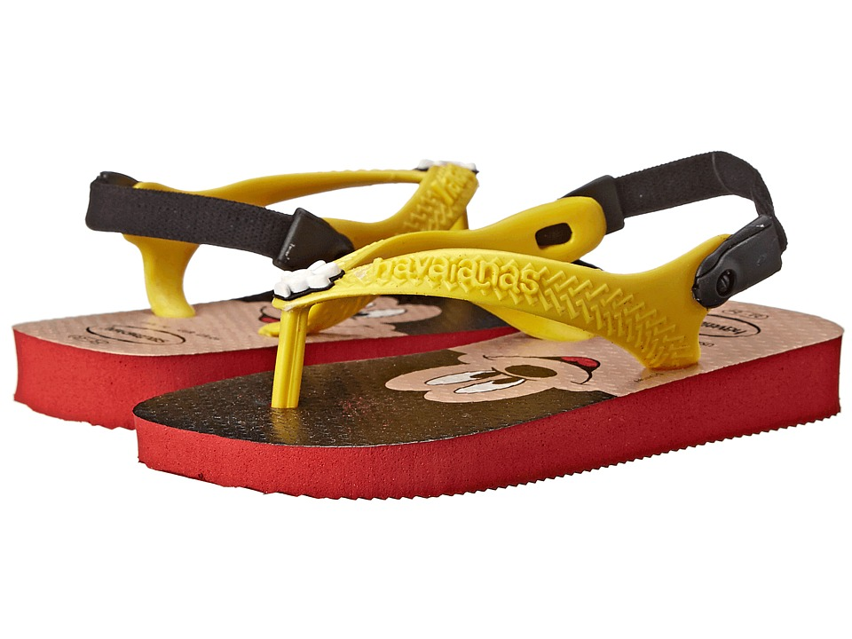 Havaianas Kids - Disney Classics (Toddler) (Red/Yellow) Kids Shoes