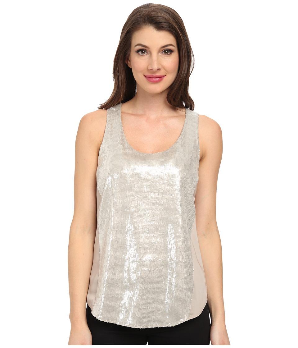 DKNYC - Sequin Glaze w/ Light Weight Satin Back Tank (Fawn) Women's Sleeveless