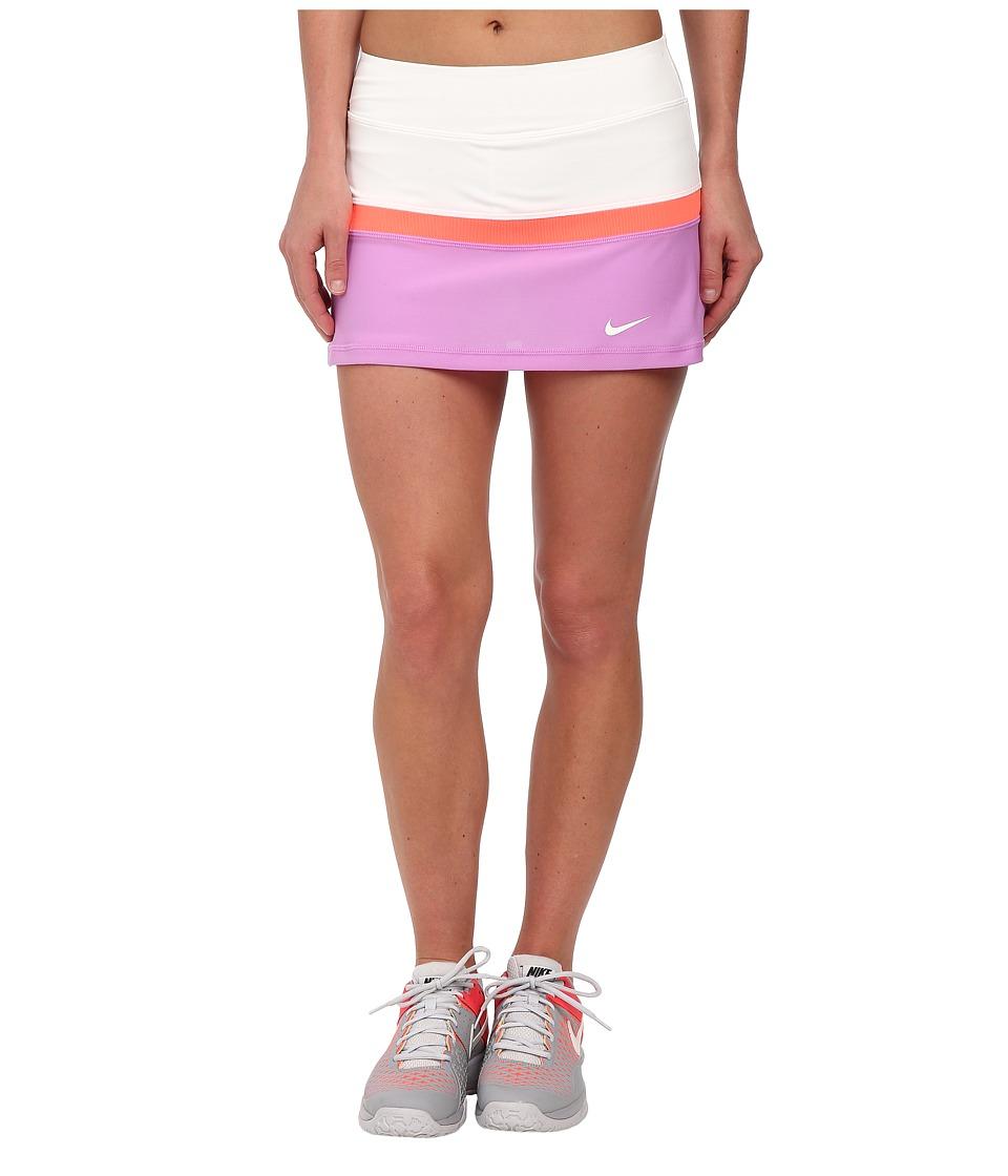 Nike - Court Skort (White/Fuchsia Glow/Hot Lava/White) Women's Skort