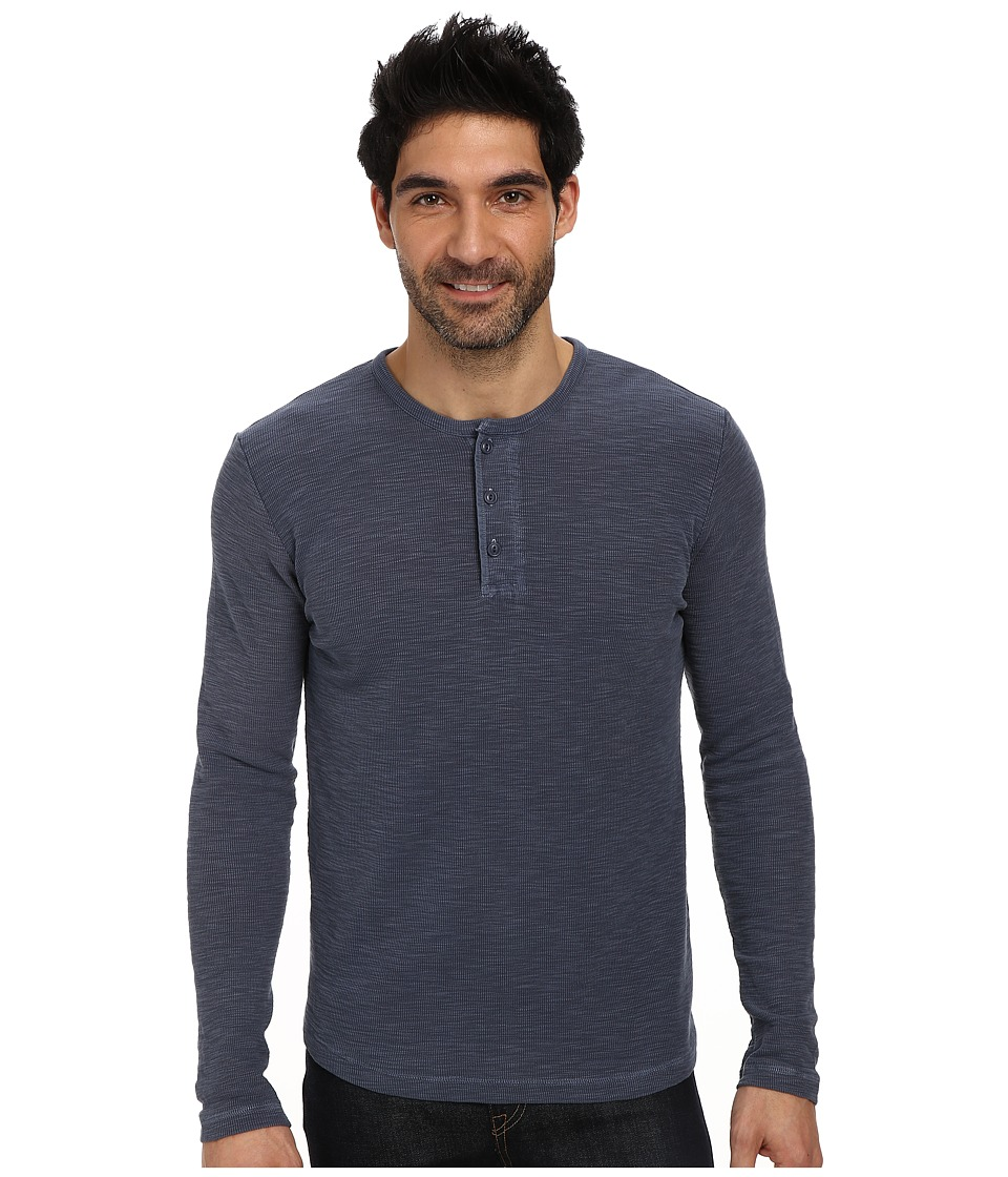 Lucky Brand - Long Sleeve Thermal Crew (American Navy) Men