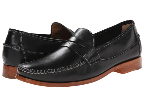 Johnston & Murphy - Danbury Penny (Black Full Grain) Men's Slip-on Dress Shoes