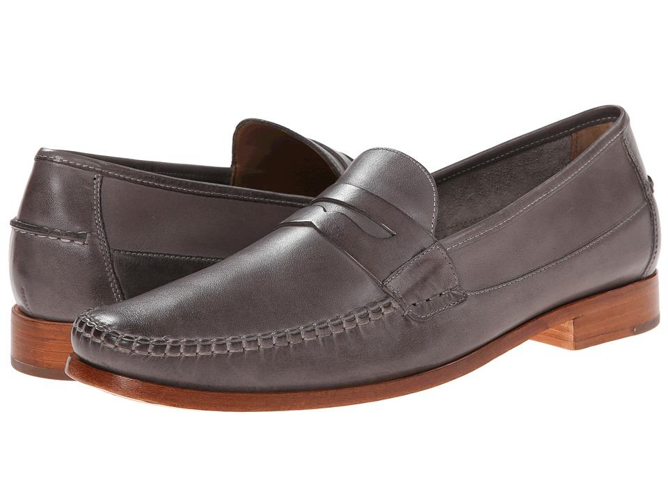 Johnston & Murphy - Danbury Penny (Dark Grey Full Grain) Men's Slip-on Dress Shoes