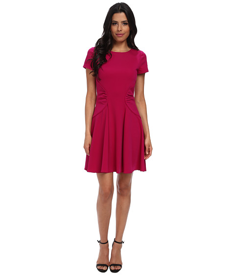 Badgley Mischka - Fit and Flare Day Dress (Fuchsia) Women's Dress