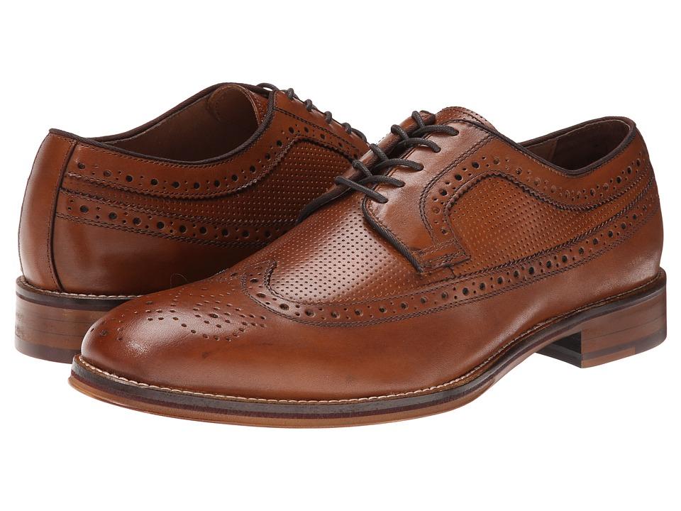 Johnston & Murphy - Conard Wingtip (Tan Calfskin) Men's Lace Up Wing Tip Shoes