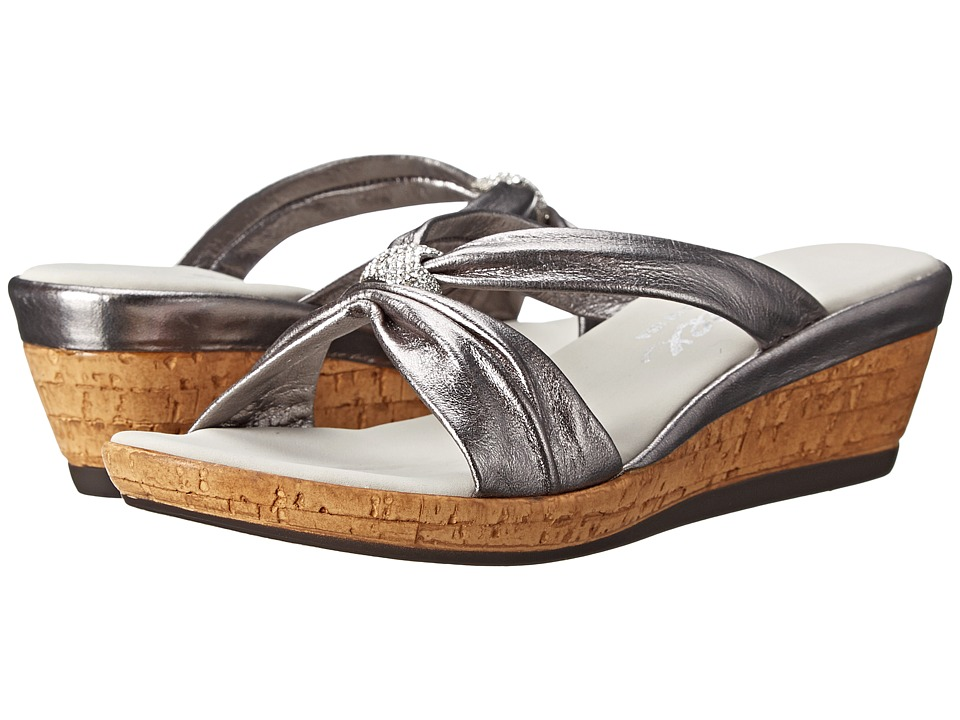 Onex - Stephanie (Pewter) Women's Wedge Shoes