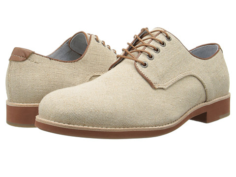 Johnston & Murphy - Ellington Plain Toe (Natural Linen) Men's Lace up casual Shoes